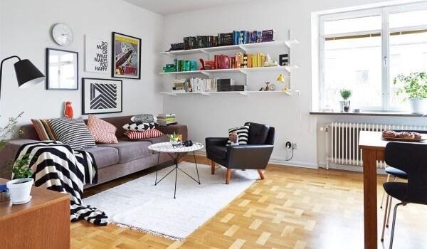 σαλόνι με χαλί