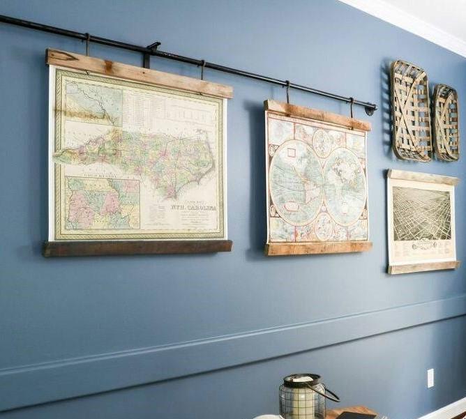 χάρτες σε κουρτινόξυλο