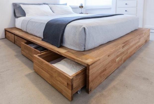 κρεβάτι με συρτάρια