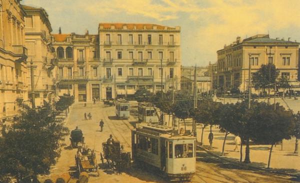 παλιά Αθήνα με τραμ